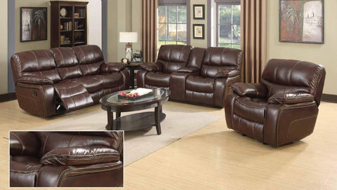 Burgundy Brown Double Reclining Sofa Set - Furniture App Online by Furniture Assistant  a Furniture Store in York PA
