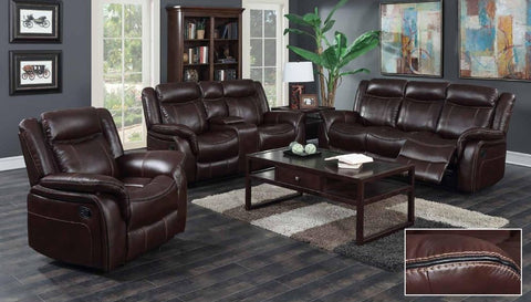 Burgundy Leather Double Reclining Sofa Set - Furniture App Online by Furniture Assistant  a Furniture Store in York PA