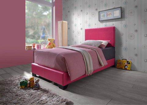 Hot Pink Leather Bed - Furniture App Online by Furniture Assistant  a Furniture Store in York PA