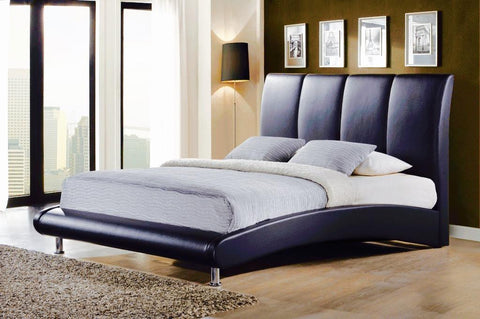 Black Contemporary Leather Bed - Furniture App Online by Furniture Assistant  a Furniture Store in York PA