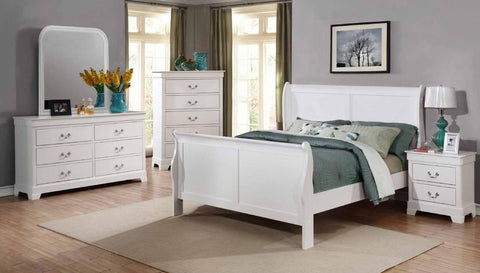 White Sleigh Bed - Furniture App Online
