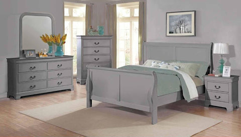 Grey Sleigh Bed - Furniture App Online by Furniture Assistant  a Furniture Store in York PA