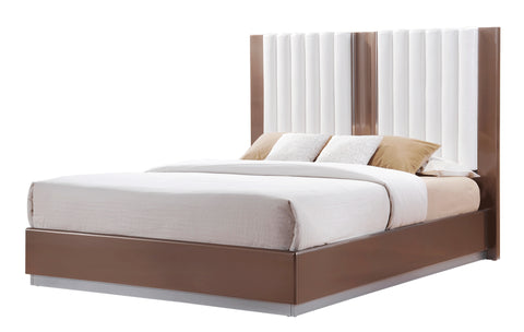 Brooklyn Brown Light Glossy Bed - Furniture App Online by Furniture Assistant  a Furniture Store in York PA