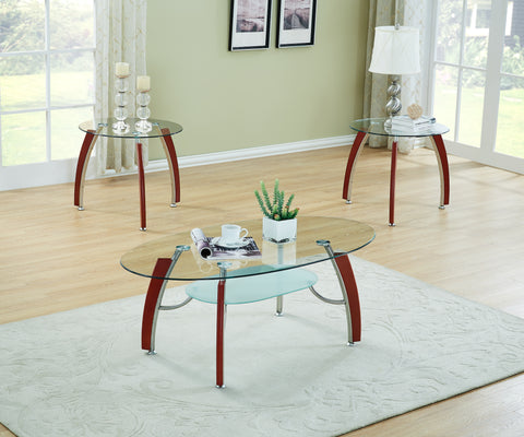 3PC CHERRY GLASS TABLE SET - Furniture App Online by Furniture Assistant  a Furniture Store in York PA