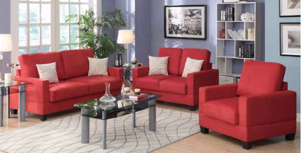 Natalie Coral Microsuede 3-Pcs Sofa Set - Furniture App Online by Furniture Assistant  a Furniture Store in York PA