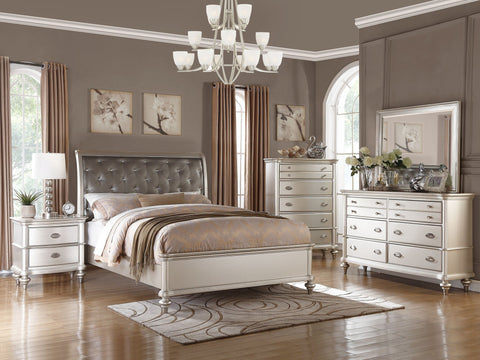 Antique Silver Leather Bed - Furniture App Online by Furniture Assistant  a Furniture Store in York PA