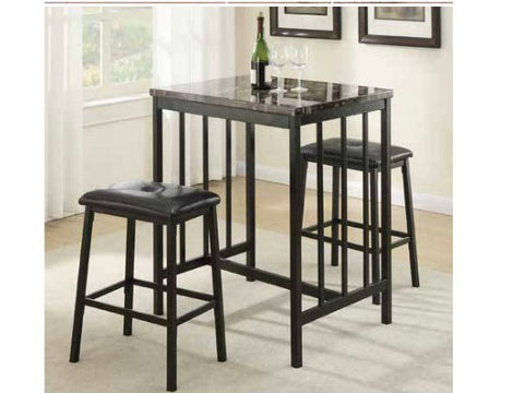 3 Piece Counter Height Dinning Set with Stools - Furniture App Online by Furniture Assistant  a Furniture Store in York PA