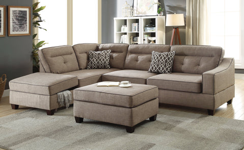 Mocha 3 PC Sectional Sofa Set - Furniture App Online by Furniture Assistant  a Furniture Store in York PA