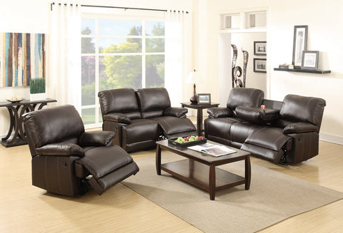 Espresso Leather Reclining Sofa Set - Furniture App Online by Furniture Assistant  a Furniture Store in York PA