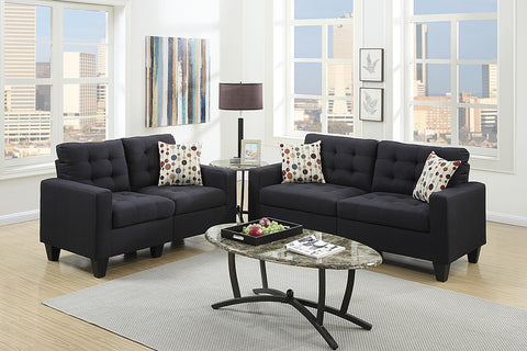 2 Piece Black Sofa Set - Furniture App Online by Furniture Assistant  a Furniture Store in York PA