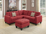 Carmine Polyfiber 4 PC Sectional Sofa Set - Furniture App Online by Furniture Assistant  a Furniture Store in York PA