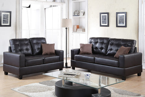 Imola Loveseat and Sofa Upholstered in Faux Leather - Furniture App Online by Furniture Assistant  a Furniture Store in York PA