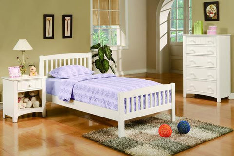 Kids White Mission Style Twin Bed - Furniture App Online by Furniture Assistant  a Furniture Store in York PA