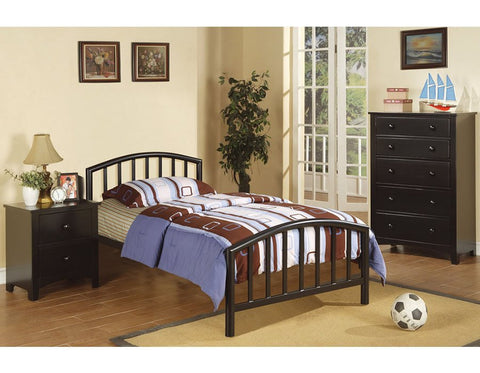 Brad Black Finish Twin Bed - Furniture App Online by Furniture Assistant  a Furniture Store in York PA