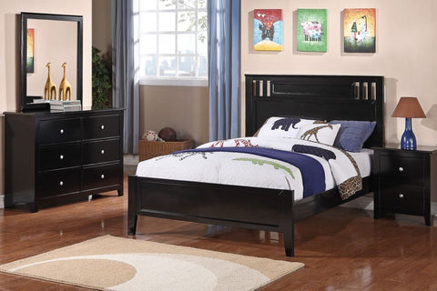 Kids Black Wood Platform Bed - Furniture App Online by Furniture Assistant  a Furniture Store in York PA