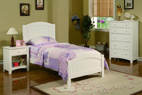 Kids White Finish Twin Bed - Furniture App Online by Furniture Assistant  a Furniture Store in York PA