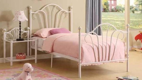 White Metal Kids Bed - Furniture App Online
