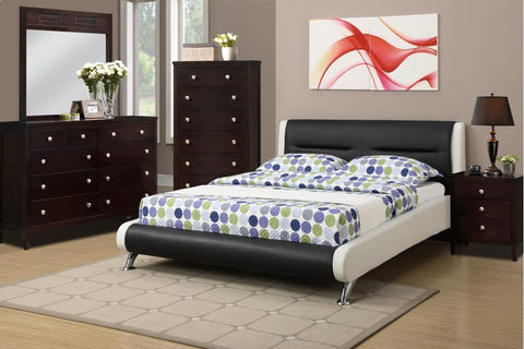 Modern Black White Leather Bed - Furniture App Online by Furniture Assistant  a Furniture Store in York PA