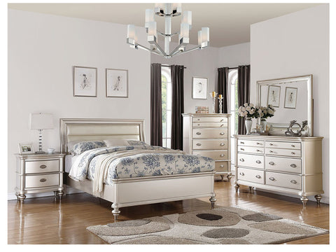 Silver Tone Master Bed - Furniture App Online by Furniture Assistant  a Furniture Store in York PA