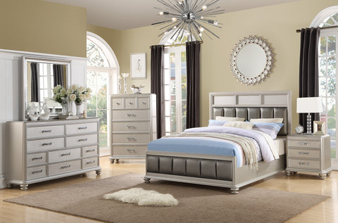 Silver Master Leather Upholstered Bed - Furniture App Online by Furniture Assistant  a Furniture Store in York PA