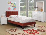 Burgundy Leather Kids Bed - Furniture App Online by Furniture Assistant  a Furniture Store in York PA