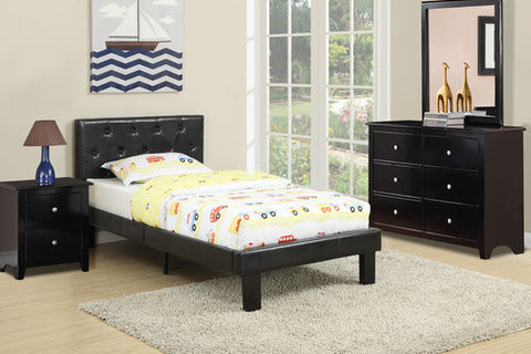 Black Leather Twin Bed - Furniture App Online by Furniture Assistant  a Furniture Store in York PA