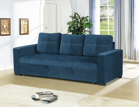 Navy Polyfiber Convertible Sofa - Furniture App Online by Furniture Assistant  a Furniture Store in York PA
