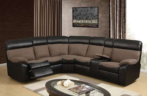 Brown and Chocolate Reclining Sectional Sofa - Furniture App Online by Furniture Assistant  a Furniture Store in York PA