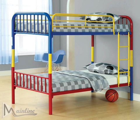 Multi-Color Twin Covertible Bunkbed-Bunk Bed-Furniture App Online (717) 685-6333
