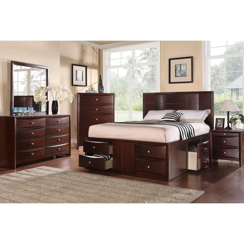 Espresso Finish Modern Bed - Furniture App Online by Furniture Assistant  a Furniture Store in York PA
