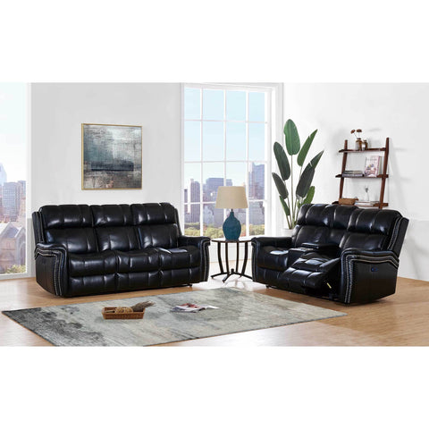 Modern Black Leather Gel Reclining Living Room - Furniture App Online by Furniture Assistant  a Furniture Store in York PA