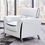 Ridgemont White Sofa with Black Accent Trim - Furniture App Online by Furniture Assistant  a Furniture Store in York PA