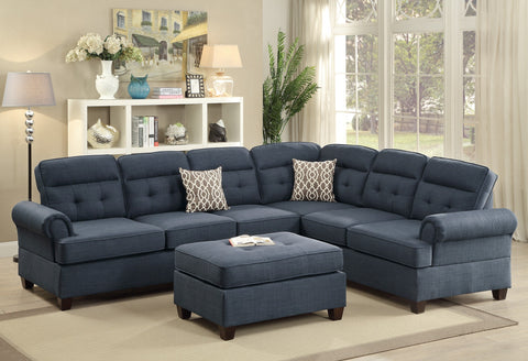 Dark Blue Dorris Reversible Sectional - Furniture App Online by Furniture Assistant  a Furniture Store in York PA