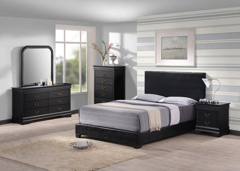 Black leather platform bed - Furniture App Online by Furniture Assistant  a Furniture Store in York PA