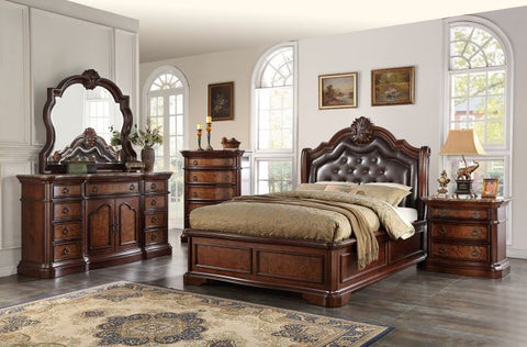 Antique Pecan Finish Bed - Furniture App Online by Furniture Assistant  a Furniture Store in York PA