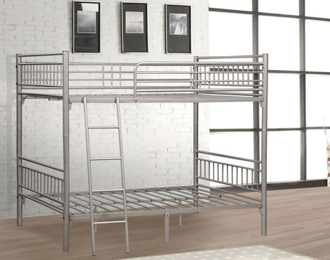 Silver Separable Metal Twin Bunk Bed
