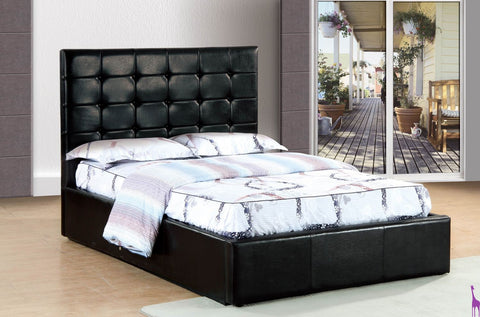 Black Upholstered Tufted Lift Bed - Furniture App Online by Furniture Assistant  a Furniture Store in York PA