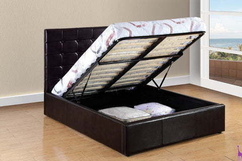 Brown Upholstered Tufted Lift Bed - Furniture App Online by Furniture Assistant  a Furniture Store in York PA
