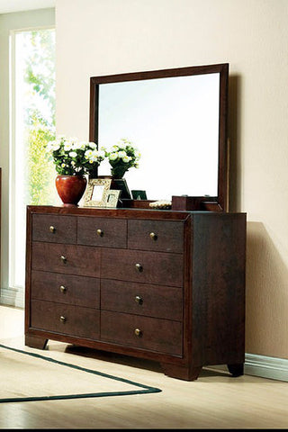 Brown Cherry Dresser with Mirror - Furniture App Online by Furniture Assistant  a Furniture Store in York PA