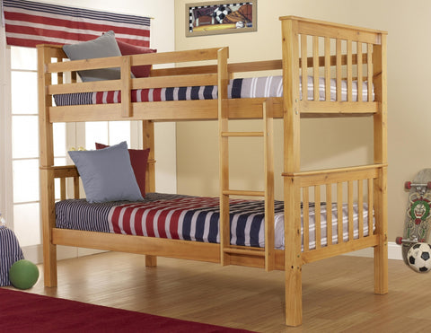 Twin over Twin Honey Bunk Bed - Furniture App Online by Furniture Assistant