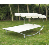 Outdoor Patio Wide Double Hammock Bed Sun Lounger w/Sun Shade Canopy 2 Person - Furniture App Online by Furniture Assistant  a Furniture Store in York PA