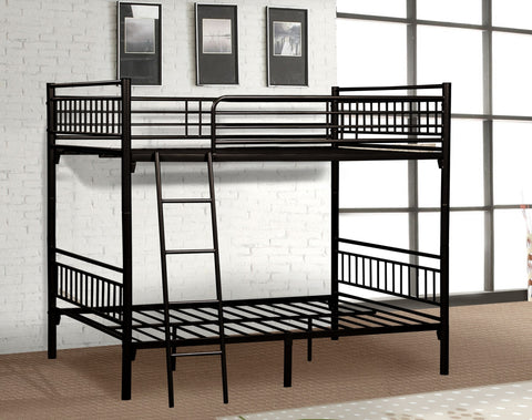 Black Separable Metal Twin Bunk Bed - Furniture App Online by Furniture Assistant  a Furniture Store in York PA