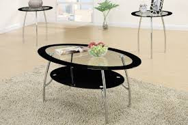 Black Glass Coffee Table Set - Furniture App Online