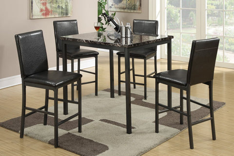 Contemporary 5 PC Square Counter Height Dinning Set - Furniture App Online by Furniture Assistant  a Furniture Store in York PA