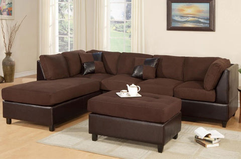 Chocolate Microfiber Sectional Sofa - Furniture App Online by Furniture Assistant  a Furniture Store in York PA