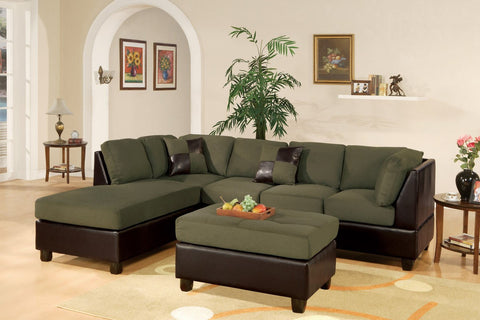 Sage Microfiber Sectional Sofa - Furniture App Online by Furniture Assistant  a Furniture Store in York PA