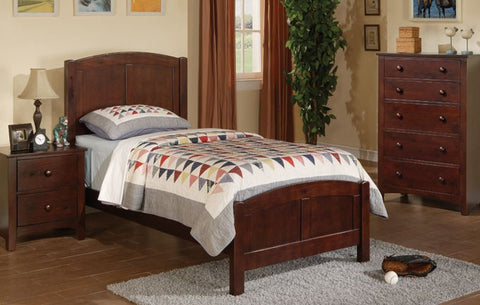 Kids Dark Oak Twin Bed - Furniture App Online by Furniture Assistant  a Furniture Store in York PA