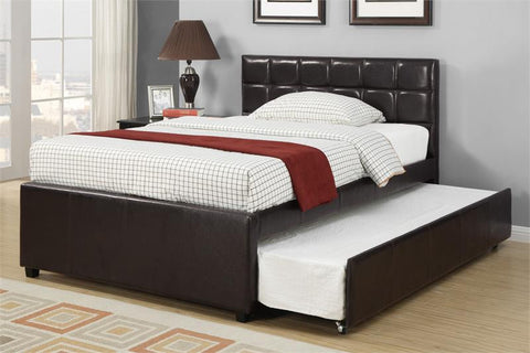 Espresso Faux Leather Upholstered Bed - Furniture App Online by Furniture Assistant  a Furniture Store in York PA