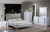 Gray Contemporary Leather Bed - Furniture App Online by Furniture Assistant  a Furniture Store in York PA