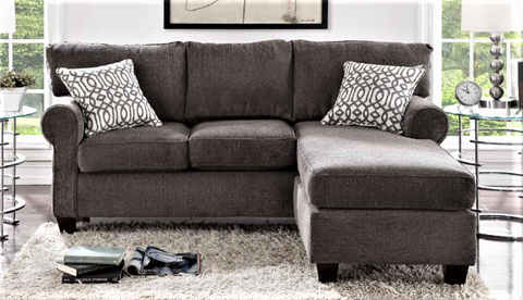 Charcoal Reversible Sectional - Furniture App Online by Furniture Assistant  a Furniture Store in York PA
